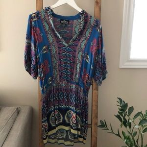 Beach Dress Swimsuit Coverup size small Angie Boho